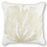 Ivory & Gold Coral Pillow
