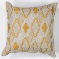 Ivory & Yellow Groove Pillow