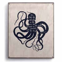 James Octopus Canvas Wall Art