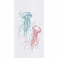 Jellyfish Swim Flour Sack Towels - Set of 6