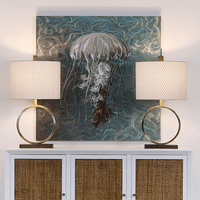 Jellyfish Swirls Aluminum Wall Art