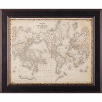Johnson's Map of the World Framed Print