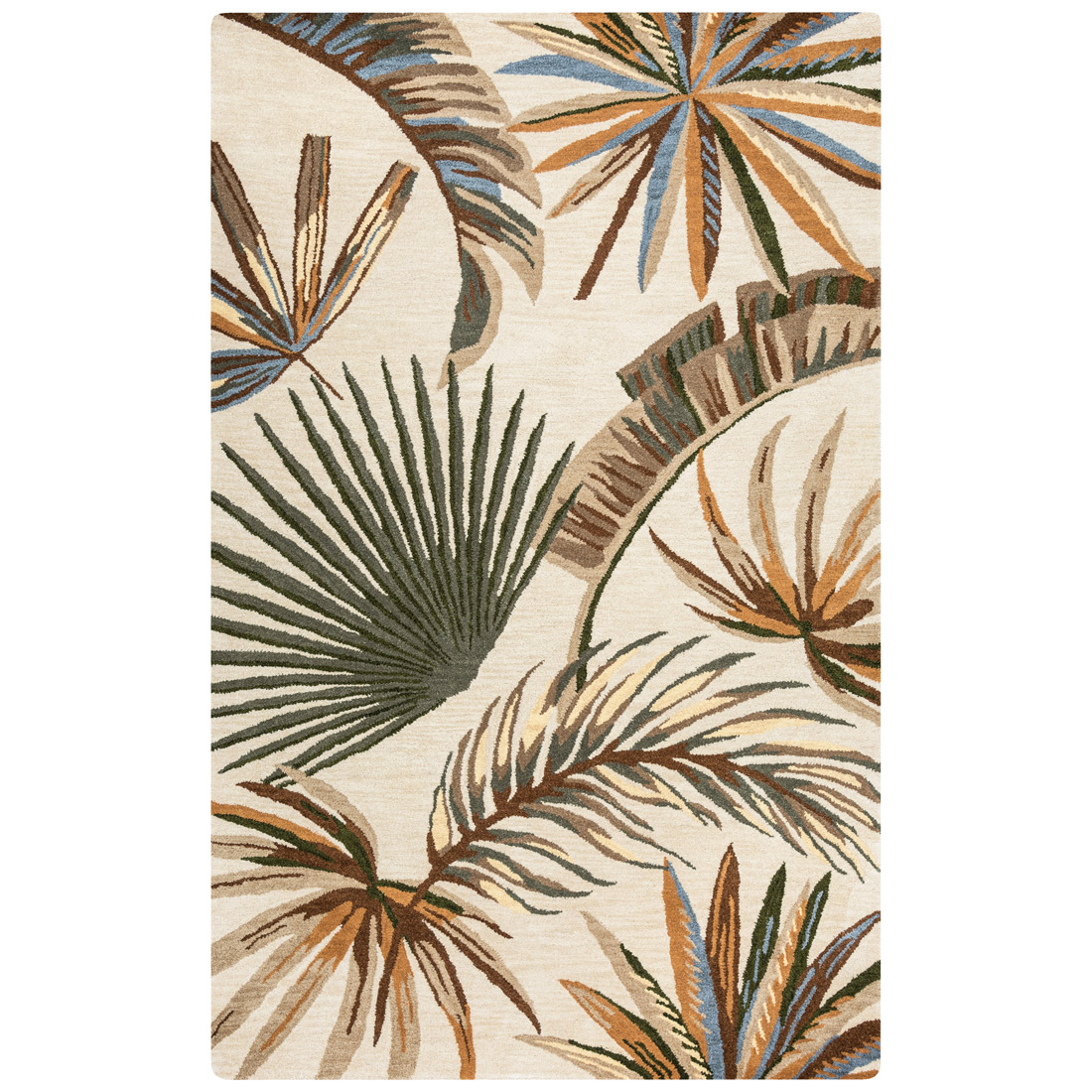 Nautical Area Rugs 8 X 10 Jungle Leaf Brown Rug