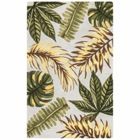 Jungle Leaf Green Rug Collection
