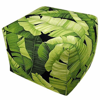 Jungle Leaves Indoor Square Pouf
