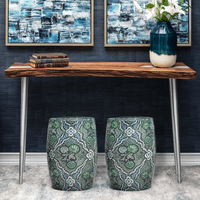 Kalapaki Beach Wood and Aluminum Console Table