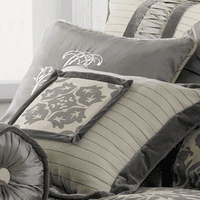 Kerrington Square Embroidered Accent Pillow