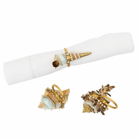 Key Largo Shell Napkin Rings - Set of 6