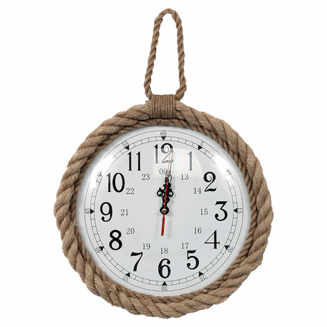 Knotted Nautical Wall Clock