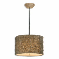 Knotted Rattan Pendant Light - OVERSTOCK