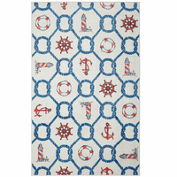 Knotty Sea Icons Linen Rug Collection