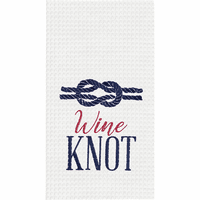Knotty Wine Waffle Weave Towels - Set of 6