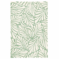 Lagoon Leaves Green Indoor/Outdoor Rug Collection