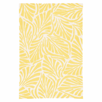 Lagoon Leaves Yellow Indoor/Outdoor Rug Collection