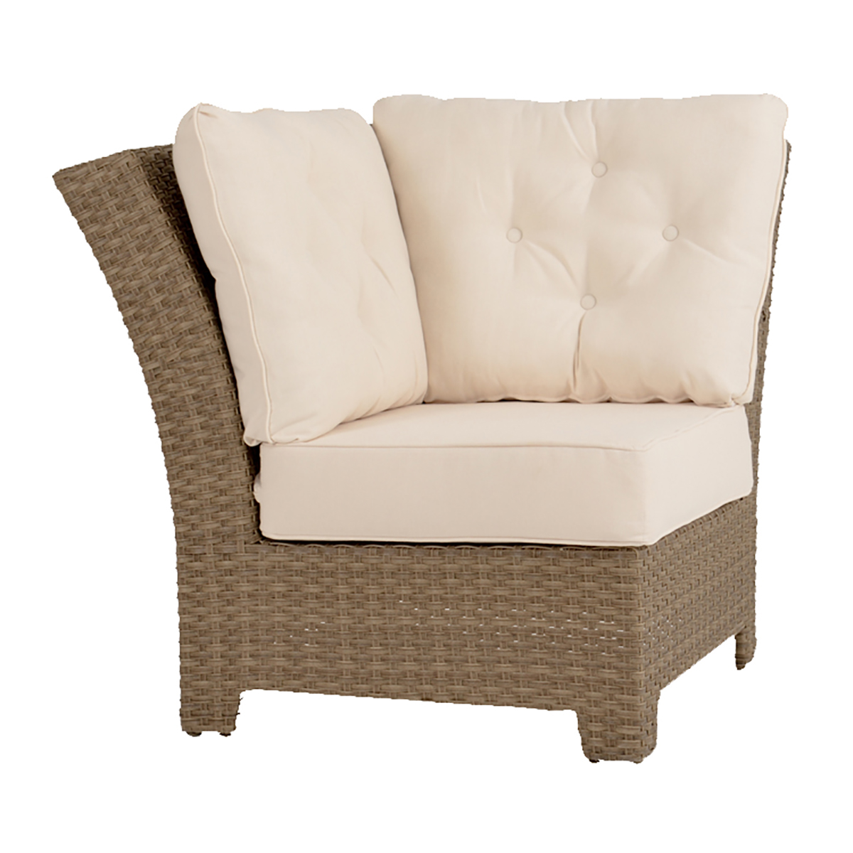 Laguna 90 Degree Wedge Sectional Chair Oyster Gray Weave