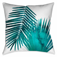 Laguna Palms Teal Outdoor Pillow