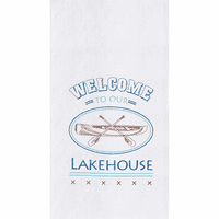 Lakehouse Welcome Flour Sack Towels - Set of 6