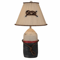 Large Buoy Pot Accent Lamp with Rope