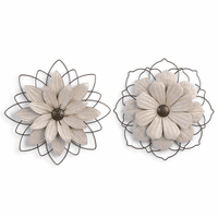 Large Flower Wall Sculptures - Set of 2