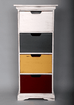 Large Painted Shelf Tower - OUT OF STOCK