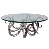 Large Pewter Octopus Dessert Stand