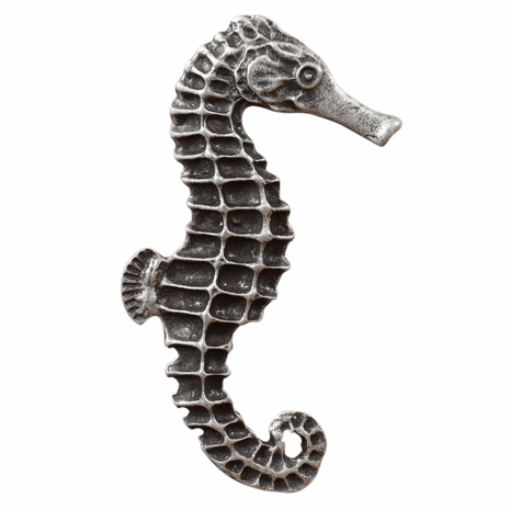 Large Seahorse Cabinet Pull - Right Facing