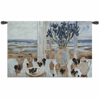Late Afternoon Irises Wall Tapestry