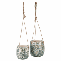 Laurence Hanging Ceramic Planters - Set of 2