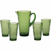 Leaf Lattice Acrylic Glassware