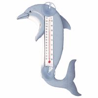 Leaping Dolphin Small Window Thermometer