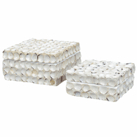 Leeward Shell Boxes - Set of 2 - CLEARANCE