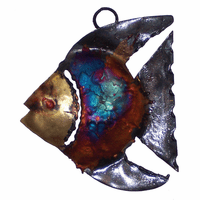Left-Facing Copper Dripped Fish