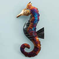 Left-Facing Copper Dripped Seahorse - 9 Inch