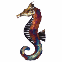 Left-Facing Copper Dripped Seahorse - Small - OVERSTOCK