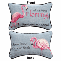 Lessons from a Flamingo Tapestry Reversible Pillow