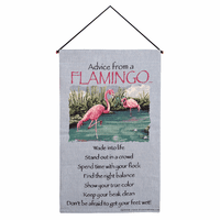 Lessons from a Flamingo Wall Tapestry