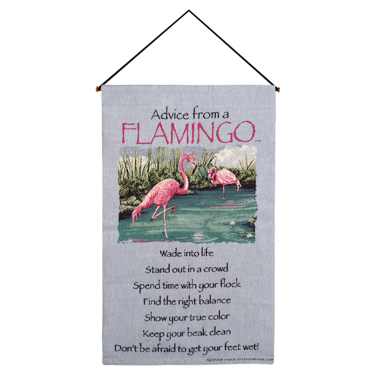 Wall Hanging Lesson Plan: Lessons From A Flamingo Wall Tapestry