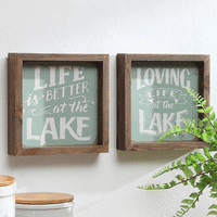 Life at the Lake Framed Art - Set of 2