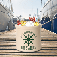Life Is Better On A Boat Personalized Crock - Green