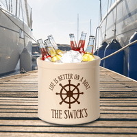 Life Is Better On A Boat Personalized Crock - Red