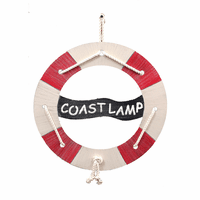 Life Preserver Personalized Wall Hanging with Tied Rope