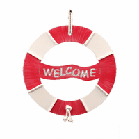 Life Preserver Personalized Wall Hanging with Wrapped Rope
