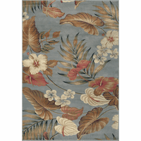 Lifestyles Slate Tropical Rug Collection