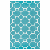Light Teal Tiles Rug - 4 x 6