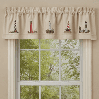 Lighthouse Array Lined Embroidered Valance