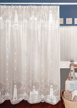 Lighthouse Lace Shower Curtain