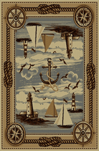 Lighthouse & Sailboat Rug Collection
