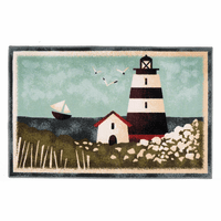 Lighthouse Scene Bath Mats