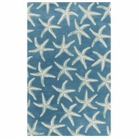 Lighthouse Starfish Blue Rug Collection