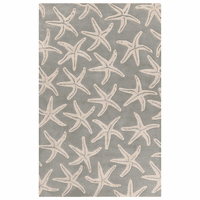 Lighthouse Starfish Moss Rug Collection